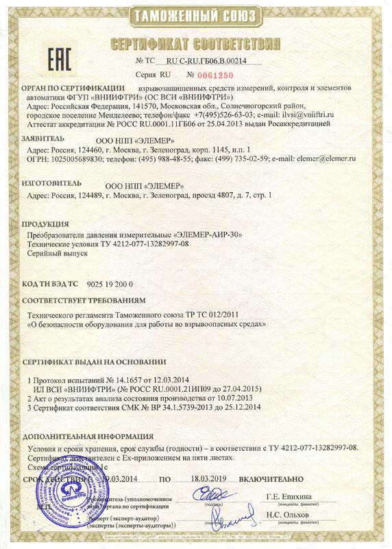 Элемер Аир-30 Руководство По Эксплуатации - фото 5